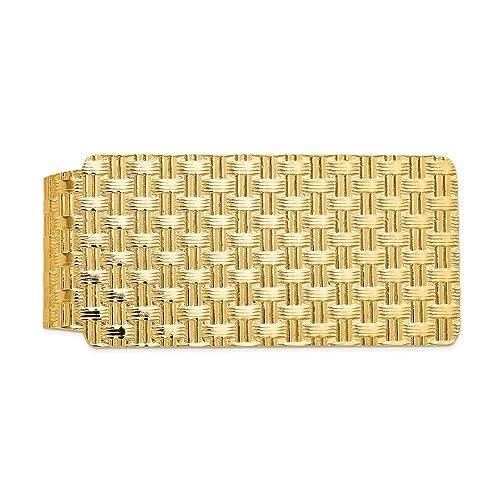 Jewel Tie 14k Yellow Gold Big Heavy University of Alabama Money Clip 55mm x 26mm