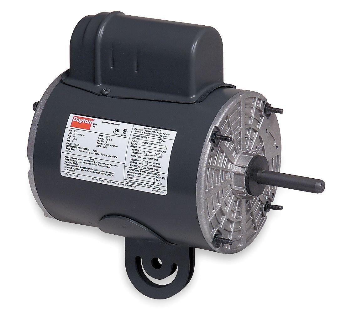 Dayton 4UX59 Motor, 1/2 hp, Yoke, Degrees_Fahrenheit, to Volts, Amps, (