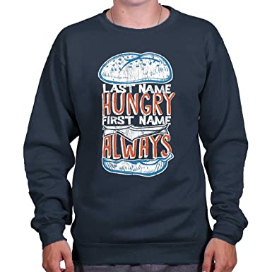 5ab3e621f Last Name Hungry First Name Always Drake Crewneck Sweatshirt Navy