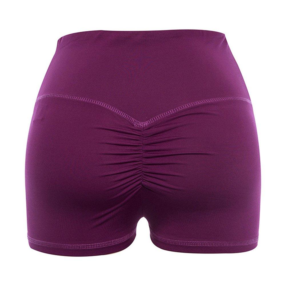 Juleya Damen Sport Shorts Kurz Leggings Push Up Fitness Shorts Elatisch Jogging Shorts Hot Pants Slim Fit Sommerhosen Atmungsaktiv Schwei/ßabsorption 7 Farben S M L