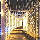 CurioCity Fairy LED String Decorative Lights with 8 Pattern Operation (2mx2m, Warm-White/ Light Golden)