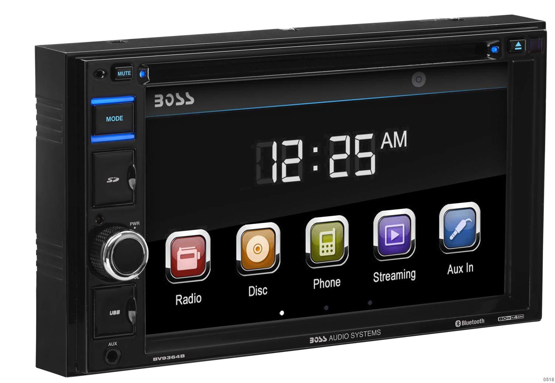 Car Stereo | BOSS Audio BV9364B Double Din, 6.2 Inch Digital LCD Monitor, Touchscreen, DVD/CD/MP3/USB/SD AM/FM, Bluetooth, Wireless Remote