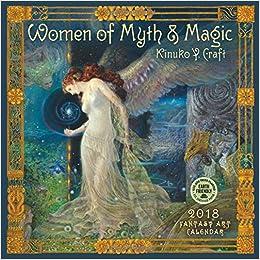 women of myth magic 2018 fantasy art wall calendar