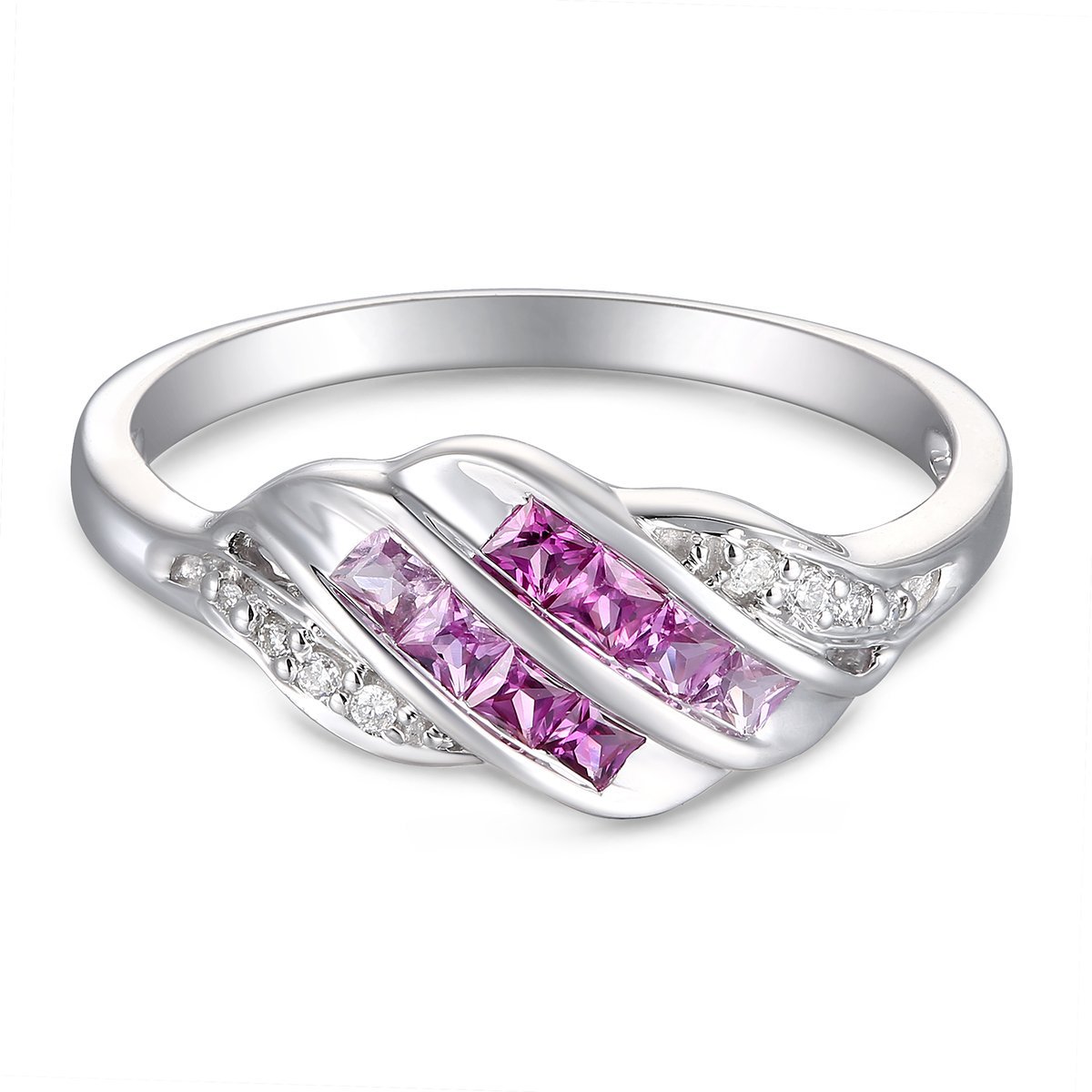 Ferhe New York 14K Gold, Diamond & Pink Sapphire & Ruby Ring,Diamond Ring,Pink Sapphire & Ruby Ring