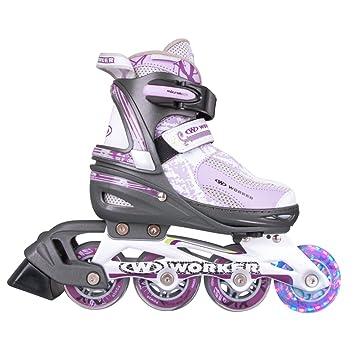 Worker Perleta - patines en línea con ruedas luminosas LED de talla ajustable - 31 – 34: Amazon.es: Deportes y aire libre