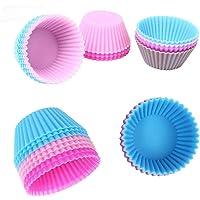 1pc Silicone Cupcake Mold DIY Baking Fondant Muffin Cake Decorating Liner Pudding Jelly Case(Random Color) Koalcom