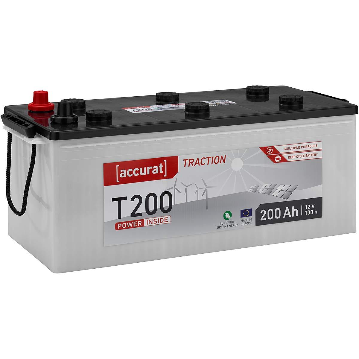 wartungsfrei in 6 Varianten Accurat 12V 110Ah Nass Batterie Versorgungsbatterie 90-260Ah