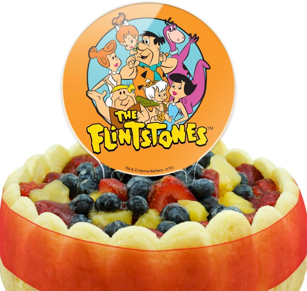 GRAPHICS /& MORE Acrylic The Flintstones Group Cake Topper Party Decoration for Wedding Anniversary Birthday Graduation