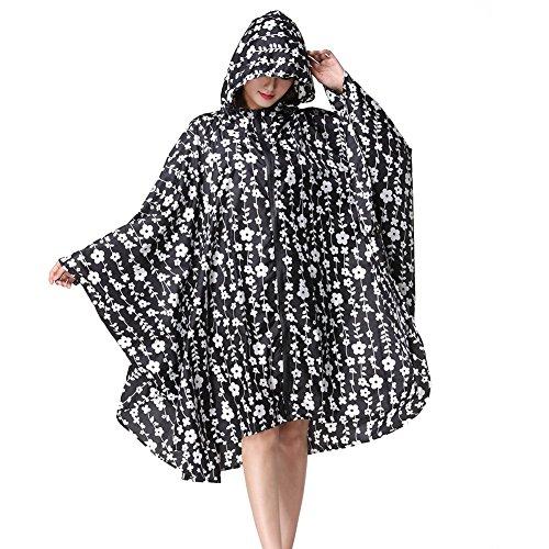 Impermable Poncho Plein Juleya De Capa Dos Cape Femmes Sac Air Date Pluie Impermable Vtements Noir Fleur Veste Impermable 755A0wq