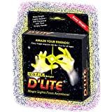 D'lites Regular Yellow Lightup Magic - Thumbs Set / 2 Original Amazing Ultra Bright Light - Closeup & Stage Magic Tricks - Easy Illusion Anyone Can Do It - See Box for Free Training / Routine Videos