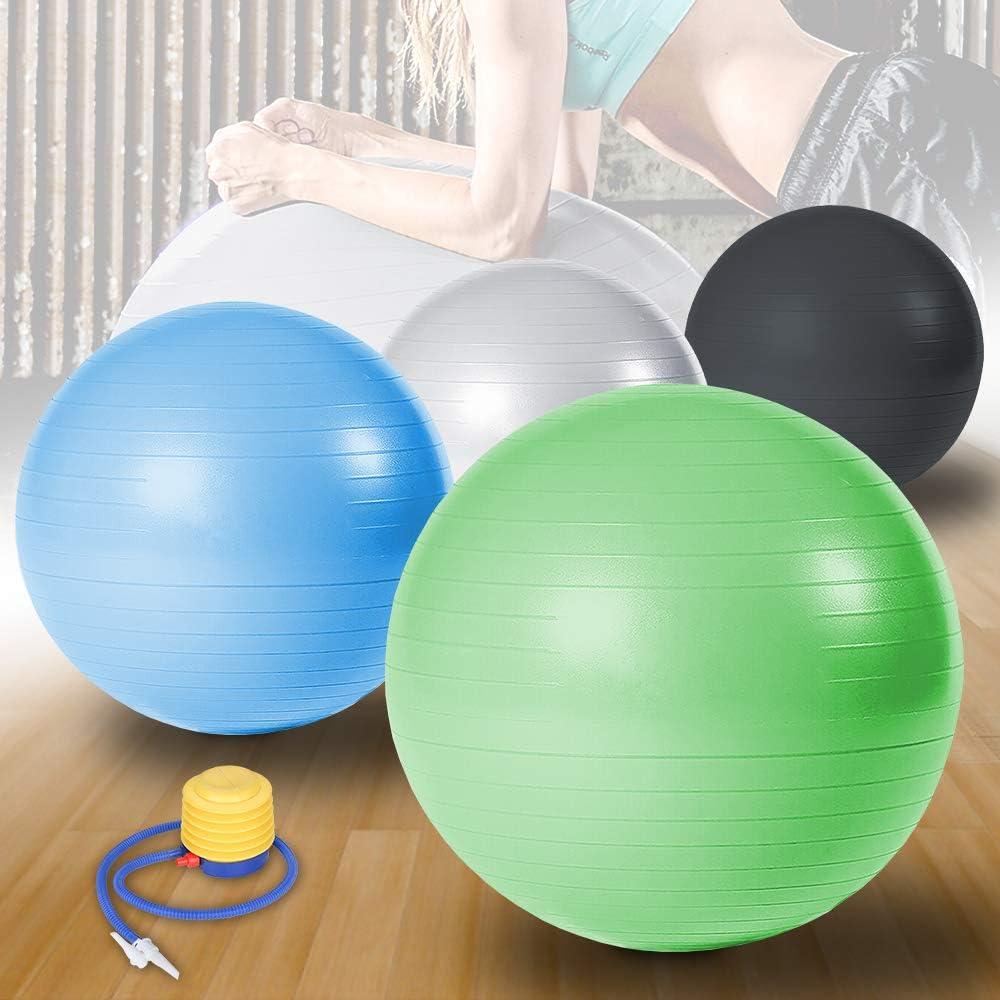 Wolketon Gymnastikball Yogaball Pilates-Ball Robuster bis 300kg f/ür Core Strength Becken/übungen Sitzball Balance Ball Reha Therapie