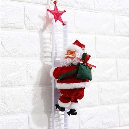Figura decorativa de Papá Noel escalador de Papá Noel en escalera de Papá Noel y Papá Noel, A: Amazon.es: Hogar