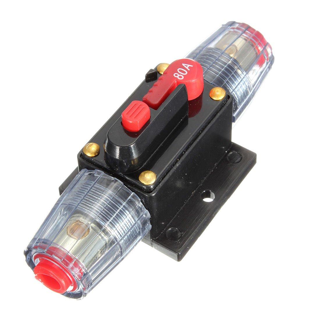 DC 12V/24V/32V Car Stereo Audio Circuit Breaker Inline Fuse Holder (80A)