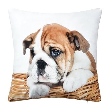 JWHPrint - Fundas de cojín de terciopelo hechas a mano para perro, funda de almohada