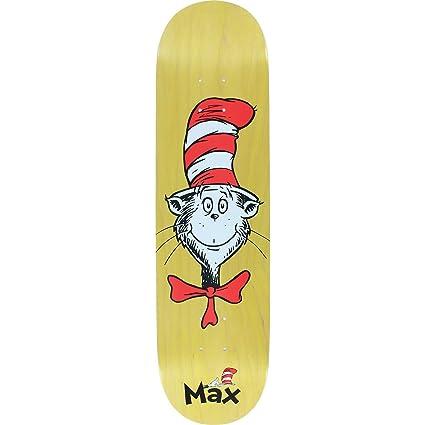 Amazon com : Almost Skateboards Max Geronzi Cat Face Yellow
