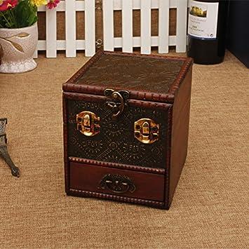 RUNDESHEBEI Y&M Antiguas Cajas. Estilo Europeo joyería Creativa Caja. múltiples cajones Espejo aparador.