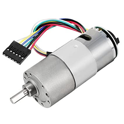 uxcell Gear Motor with Encoder DC 12V 22RPM Gear Ratio 270:1
