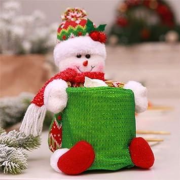 SeniorMar Adornos navideños, mesas de Comedor, hoteles, baños, Cubre Toallas de Papel Redondas, artículos de Bolsos: Amazon.es: Hogar
