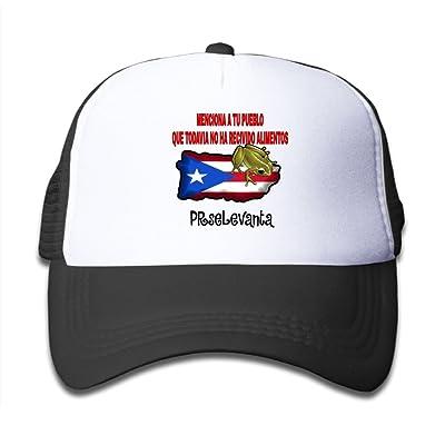 Tailing Puerto Rico Frog Kids Adjustable Mesh Cap Trucker Hats Baseball Cap for Sports