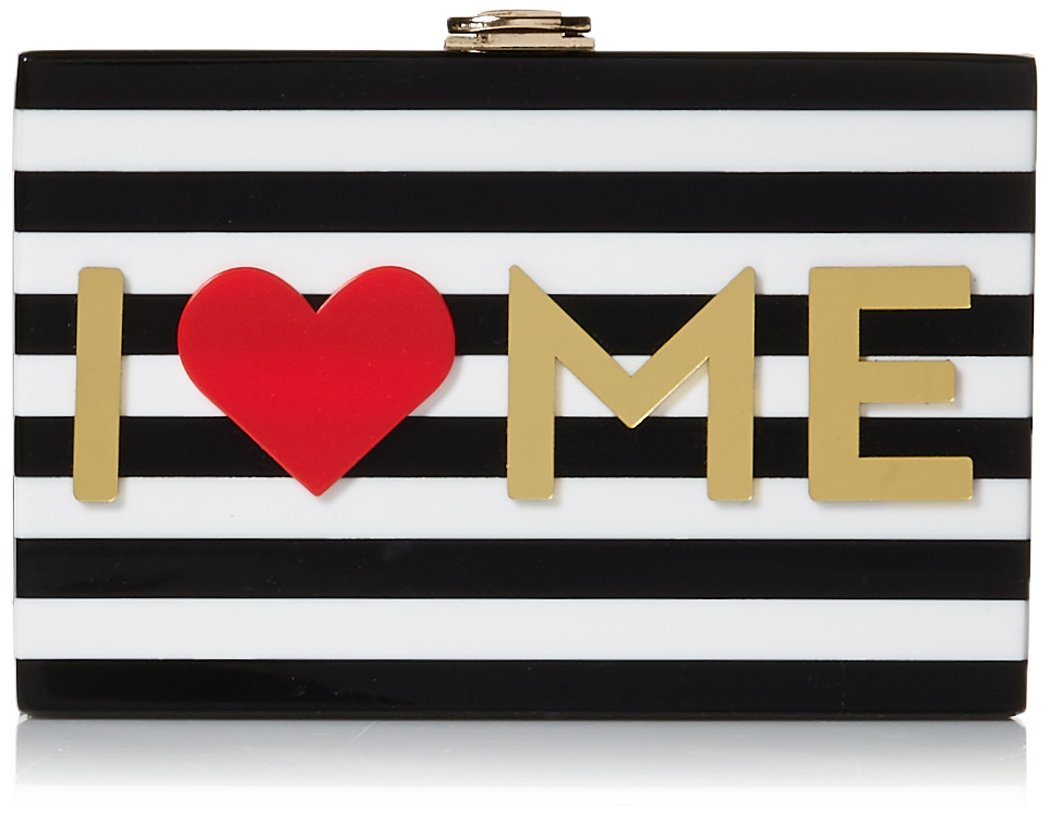 MILLY I Heart Me Box Clutch, Multi by MILLY