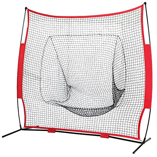 Topeakmart Baseball, Softball Practice/Training Net, 7'×7'