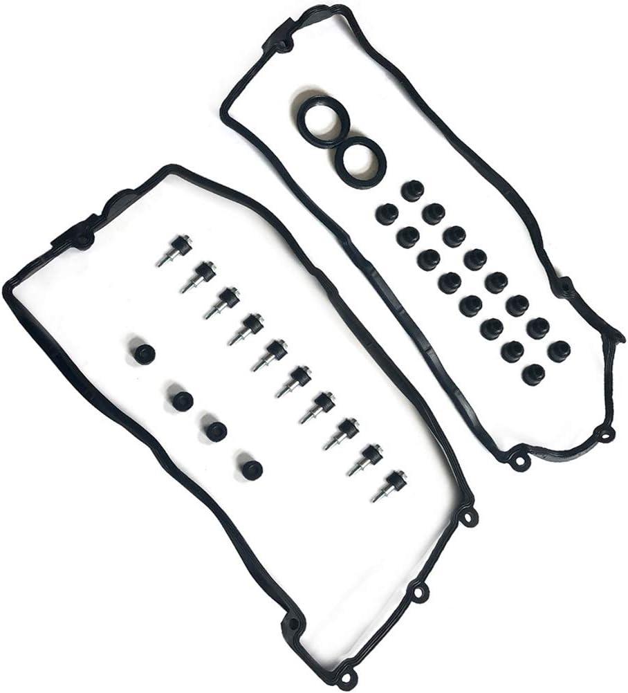 CTCAUTO Valve Cover Gasket Sets Fits for BMW 545i 550i 645Ci 650i 745i 745Li 750i 750Li Alpina B7 X5
