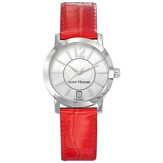 Reloj mujer Saint Honoré CLICOCR006 – Caja Acero Plateado – Pulsera cuero blanco – 751020 1yin