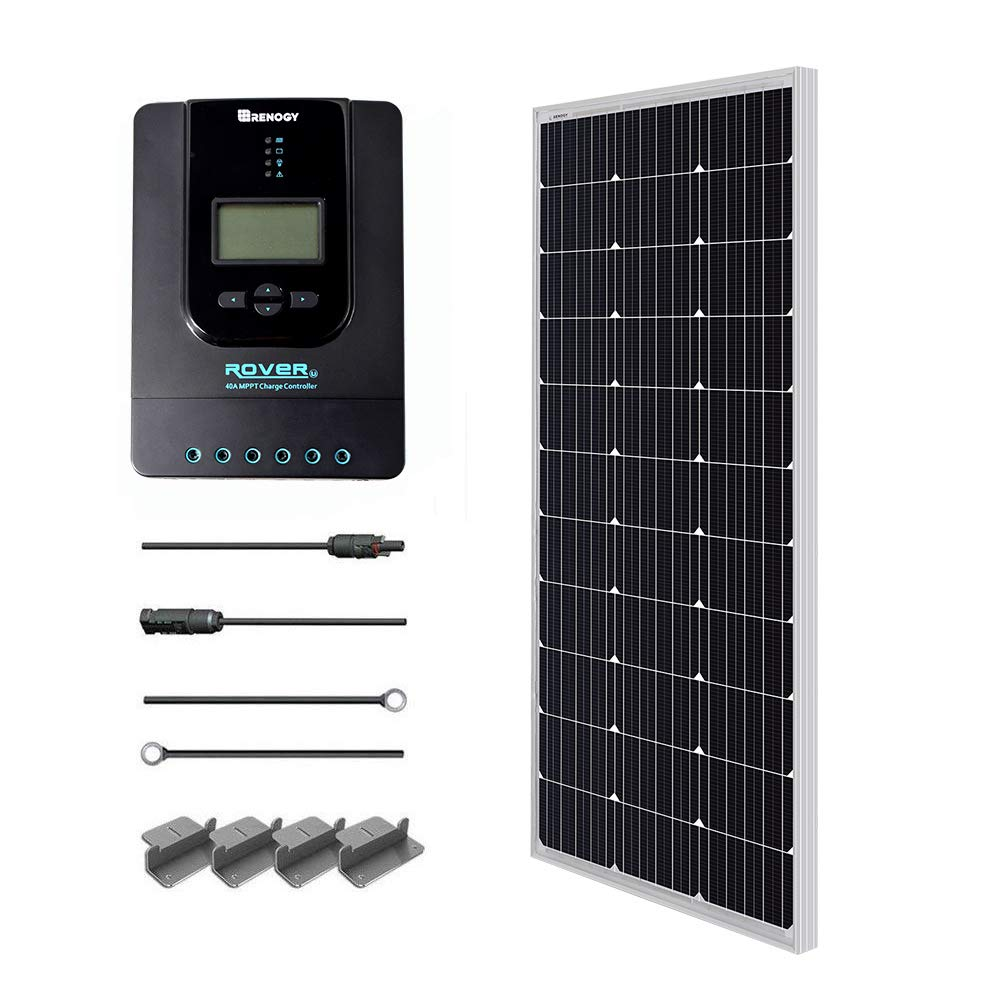 Renogy 100 Watts 12伏单晶太阳能入门套件