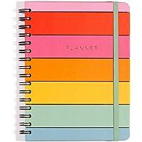 Planner Wire-o Arco-íris, Multicolorido, Arco-íris, Mensal e Semanal, 75 fls, Papel Pólen 80g/m², Tamanho A5