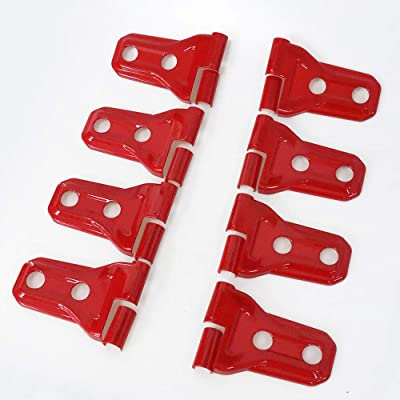 BESTAOO Door Hinge Covers for Jeep Wrangler JL 2020-2020 Unlimited Rubicon Sahara Sports Accessories (red): Automotive
