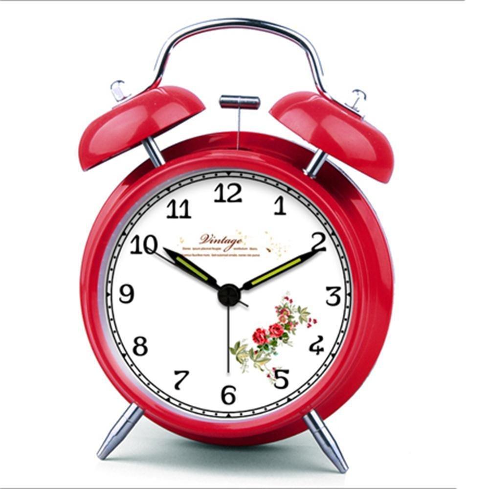 Alarm clock moju flash-european semplice pastorale piccola sveglia Europeo Red