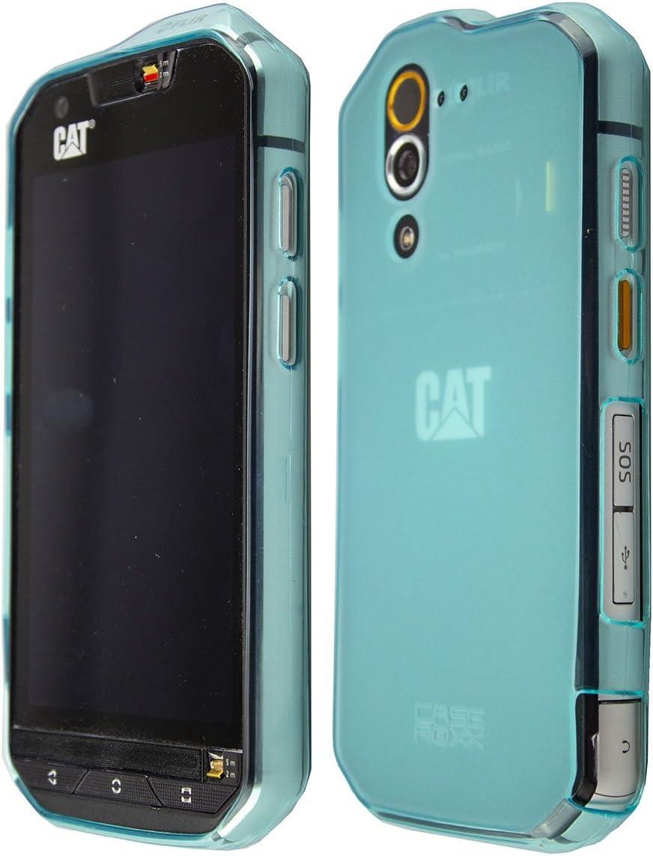 caseroxx TPU-Carcasa para Cat S60, Carcasa (TPU-Carcasa en Azul ...