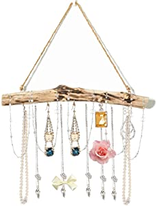 Byher DIY Drift Wood Wall Hanging Art for Macrame Boho Wall Decor, Herbs Racks, Curtains, Towel Hangers, Beach Theme Party (15-Inch)