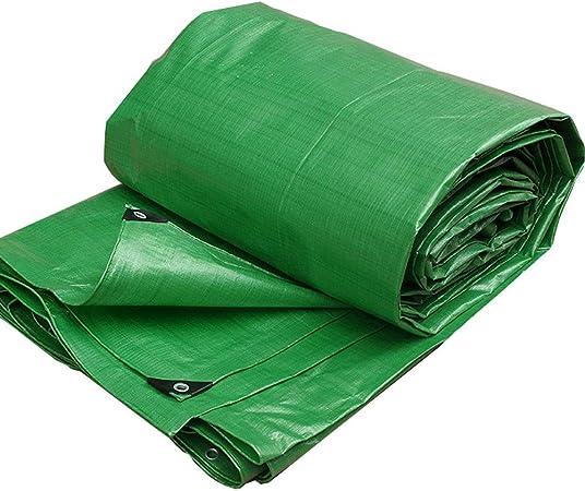 Lona de jardín Impermeable Lona para Acampar al Aire Libre, Hoja de Lona Verde Resistente Resistente a Prueba de Agua, Cubierta Grande para remolques de Camiones de campaña, Piscina y jardín, tamaños: