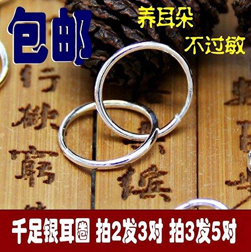 (usongs 999 fine silver earrings handmade ear ring light twist ear nose ring navel ring silver ring )