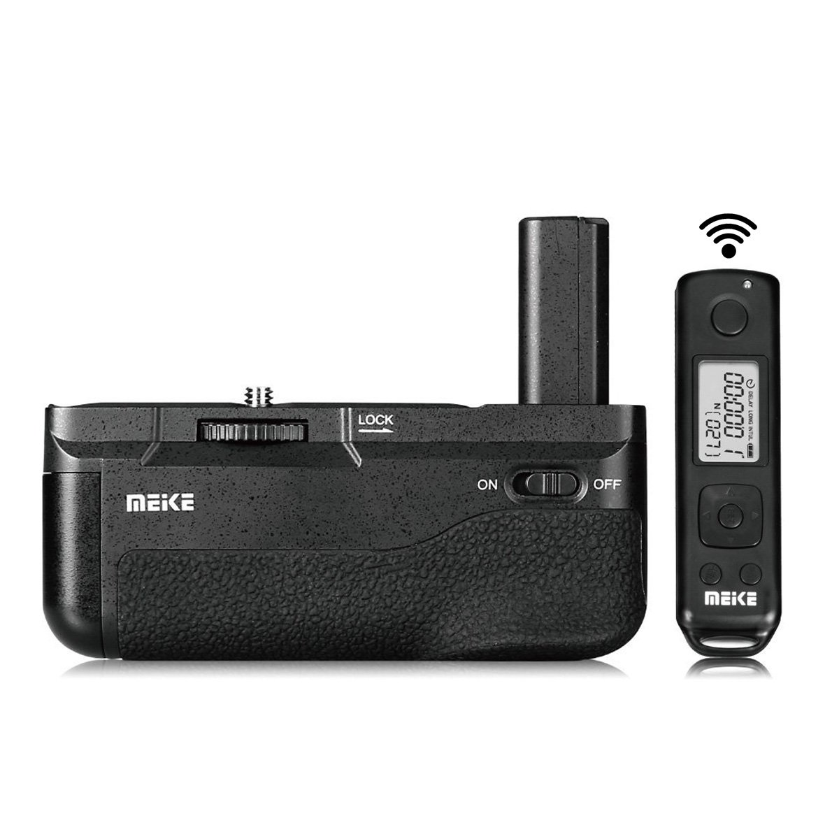 Meike MK-A6500 Pro Battery Grip Built-in 2.4GHZ Remote Controller Vertical-Shooting Function Compatible for Sony A6500 Camera Mcoplus Cloth