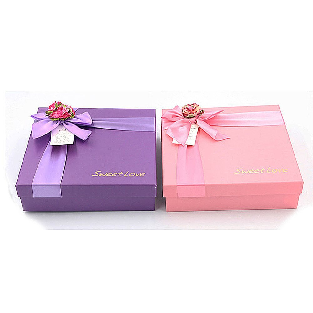 Amazon.com: Drasawee Square Shape Gift Boxes Birthday Christmas ...