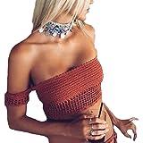 Smartprix Felix Womens Sexy Summer Crochet Lace Crop Tops Bikini Bra