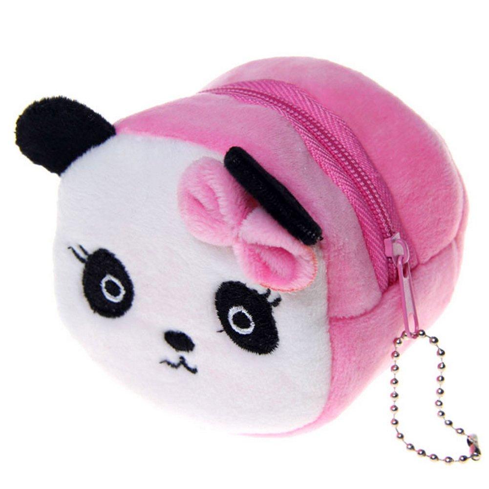 Eudola Bolsas de Monedas con Cremallera Monedero Mujer Moda Mini Bolso de Llave Paquete de Tarjetas Monedero de múltiples Capas Panda