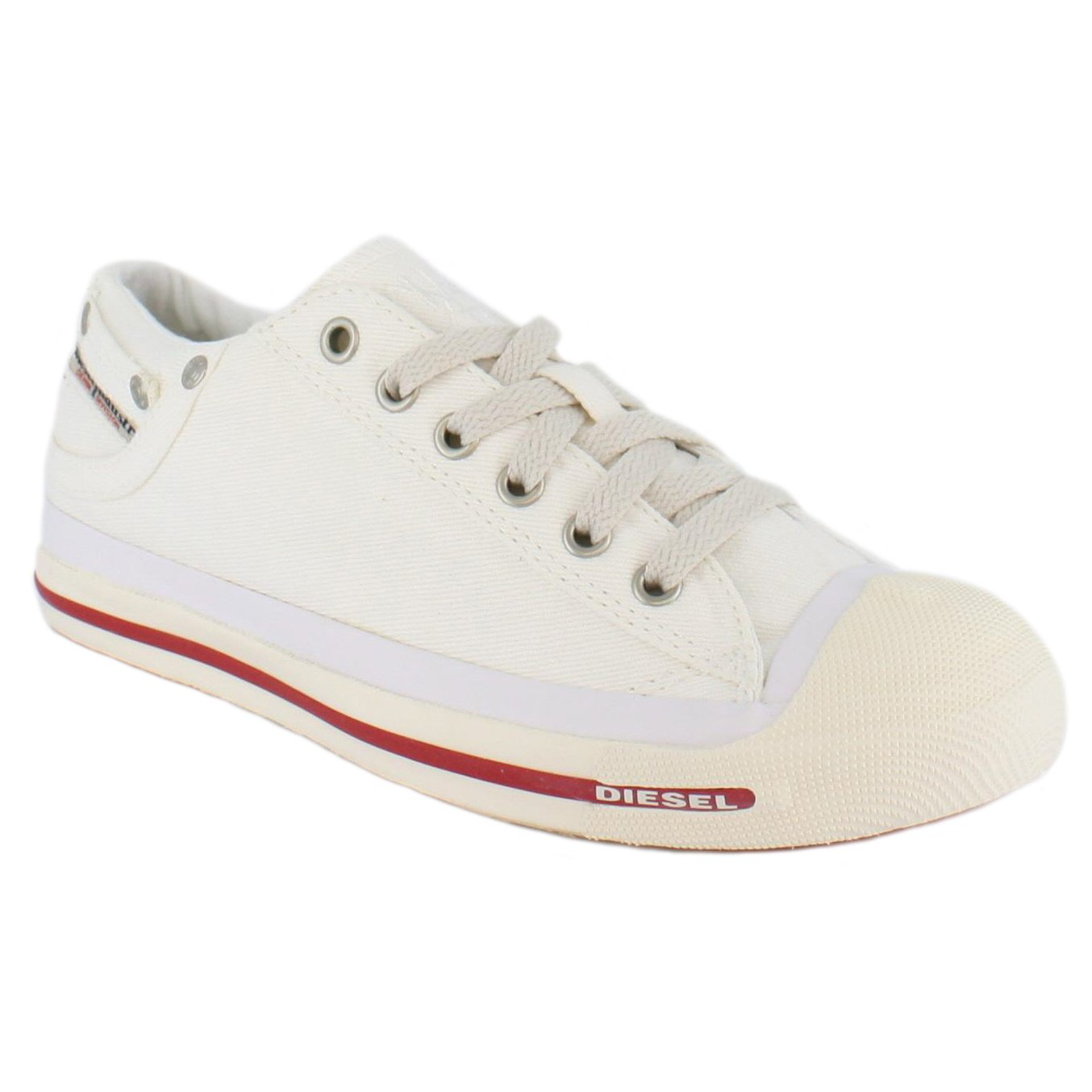 Diesel EXPOSURE LOW I - Trainers - white nwxqTfYsz