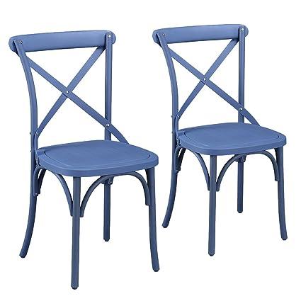 Amazing Supernova Eco Friendly Dining Chairs Nylon Vintage Style Curved Leg Cross  Back,French