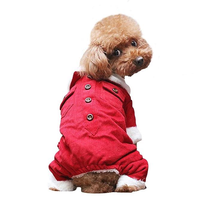 Elvoo Mascotas Ropa para perros Perro pequeño Peluche Ropa para perros Vestido de princesa rosa Traje ...