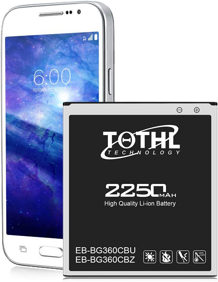 Galaxy Core Prime Battery, TQTHL 2250mAh Li-ion Replacement Battery for Samsung Galaxy Core Prime SM-G360P, G360V Prevail, G3606, G3608, G3609 EB-BG360CBU, EB-BG360CBZ