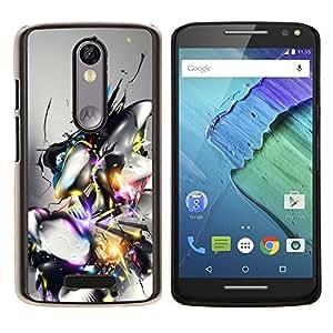GIFT CHOICE / Teléfono Estuche protector Duro Cáscara Funda Cubierta Caso / Hard Case for Motorola Moto X3 3rd Generation // Abstract Design //
