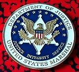 DOJ US Marshal Colorized Challenge Art Coin