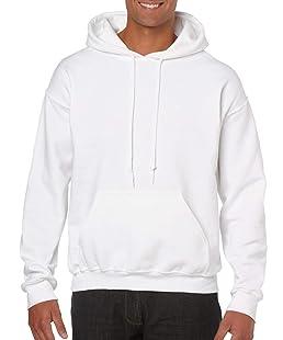 GILDAN Pull à capuche pour homme - blanc - Medium