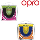 Opro Snap Fit Mouth Guard | (Twin Pack) Gum Shield for Rugby, Hockey, MMA, Boxing (Black + Blue colours)