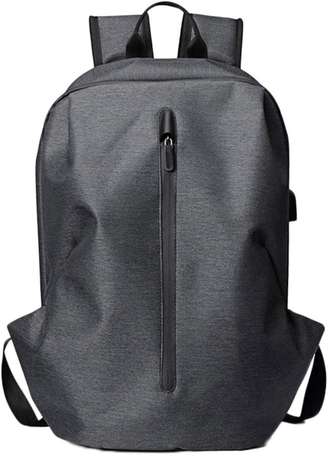 Color : Gray Backpack Mens Casual Large Capacity Mens Bag Waterproof Scratch-Resistant Portable Backpack