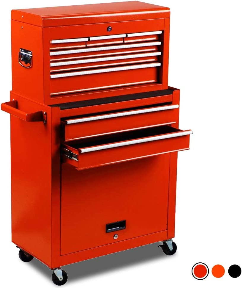 High Capacity 8-Drawer Rolling Tool Cabinet Best Tool Chest Under 500