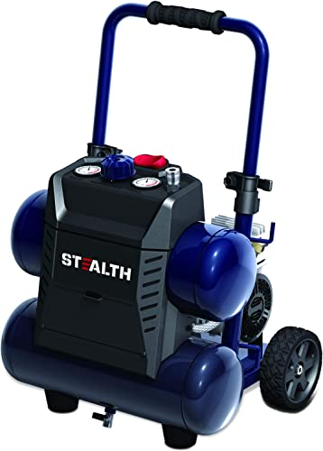 Stealth 4.5 Gallon Ultra Quiet Air Compressor,1.3 HP Oil-Free Peak 150 PSI 65 Decibel Air Compressor,4 CFM 40 PSI 3 CFM 90 PSI Silent Portable Long Life Electric Air Compressor W Wheel for Garage